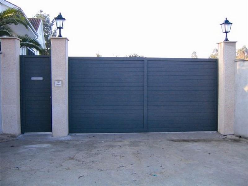 aluminio modelo lineal - Puertas de garaje de aluminio